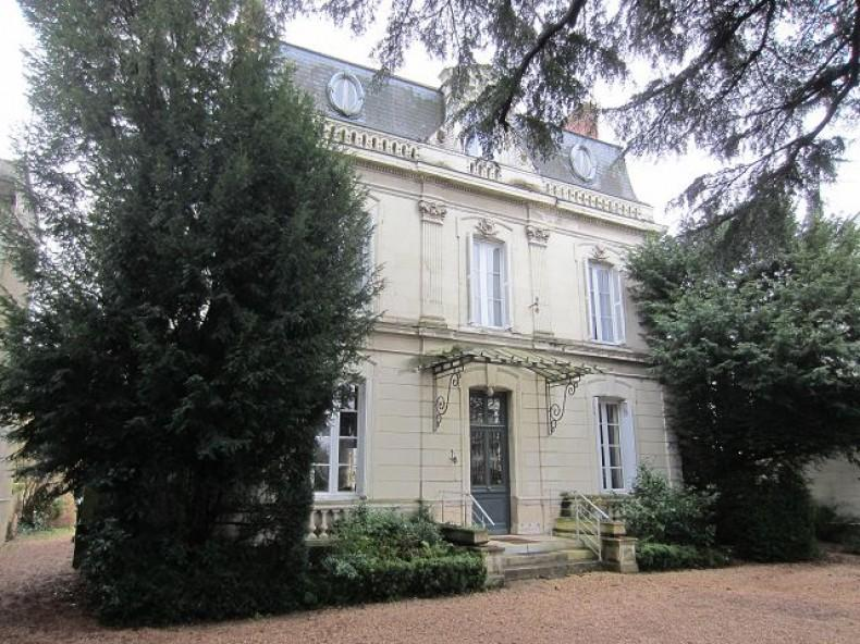 Old mansion with garden