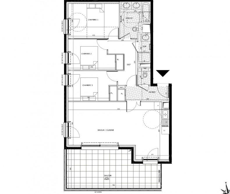 VANNES Centre appartement  neuf T4 VENDU