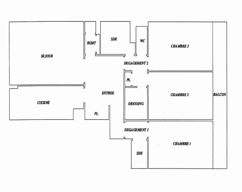Appartement 3 ch avec vue 2 parkings cave