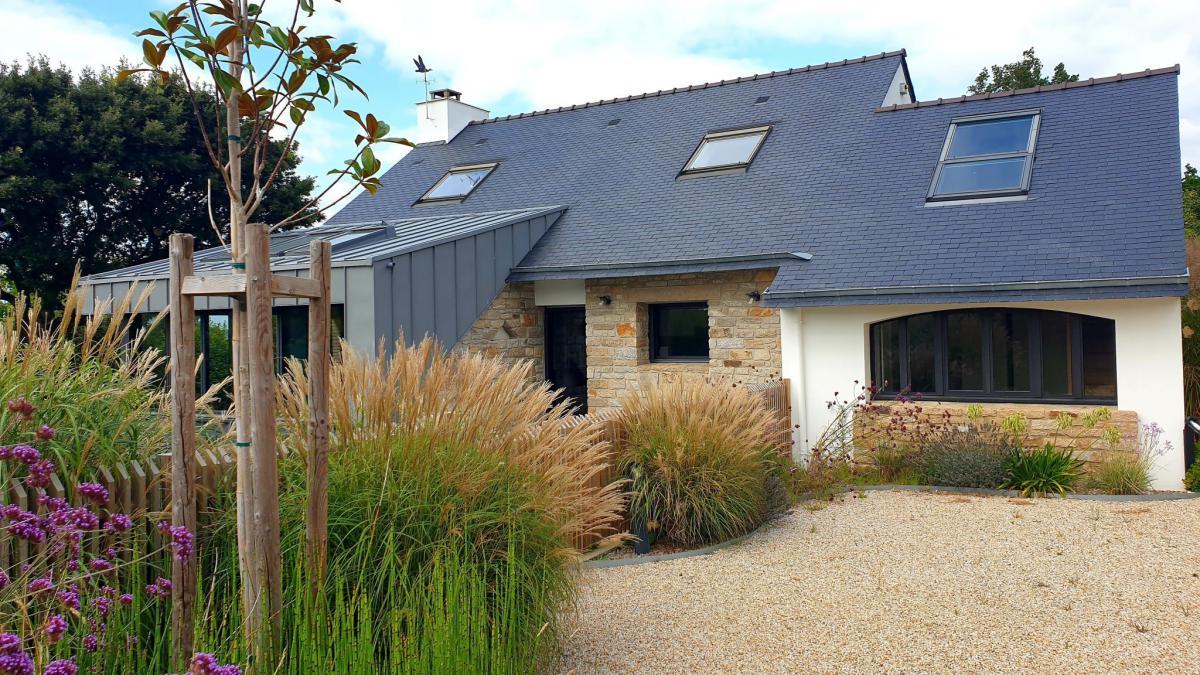 Maison contemporaine 4 ch terrasse petite vue Golfe